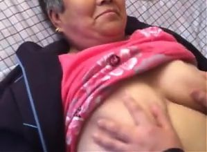 Playing With Asian Granny Tits